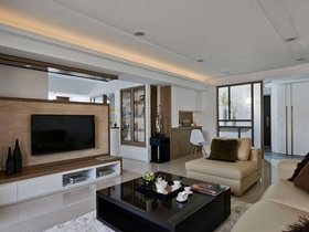 大氣雅致現代個性三居室設計欣賞