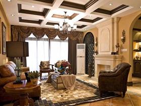 古典美式四居室经典风格装修案例