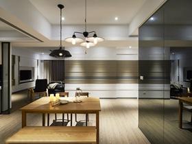 现代时尚80平两居装修效果图