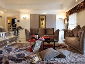 优雅时尚简欧风三居室家装设计图集