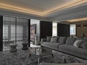 现代简约式四居装修设计效果图