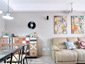 輕工業混搭二居室設計欣賞