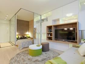 現代簡約設計一居室裝修效果圖