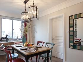 美式简约两室两厅装饰设计效果图