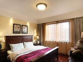 139平美式复古时尚三居装修效果图