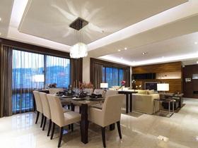 时尚现代风格四居室装修设计图