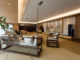 中式风格黄色客厅吊顶效果图赏析