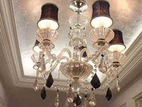 欧式风格浪漫米色客厅吊顶装修设计