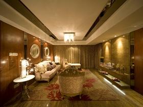 黄色奢华欧式风格客厅吊顶装修设计