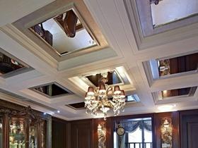 新古典褐色客厅吊顶装修