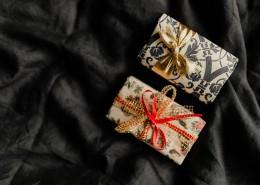 床上的圣诞礼物图片_12张