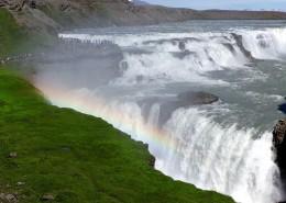 冰岛马鬃瀑布风景图片_9张