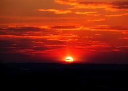 景色秀美的夕陽圖片_15張