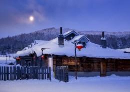 童话般的雪乡晨曦自然风景图片_9张