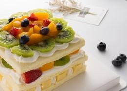 美味好吃的奶油水果蛋糕图片_9张