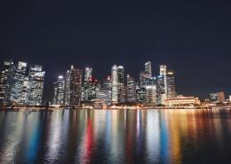 新加坡城市夜景图片_13张