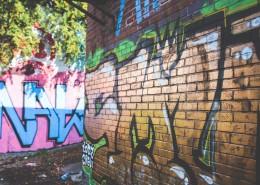 墙上的多彩涂鸦图片_16张