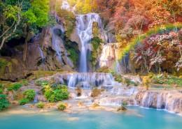 唯美的山间瀑布自然风景图片_9张