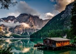 湖边小屋风景图片_10张