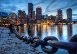 美国波士顿城市夜景图片_9张