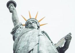 美国纽约自由女神像的图片_10张