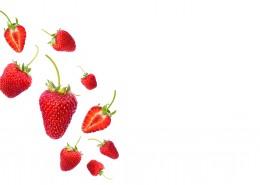 白色背景的草莓素材图片_12张