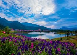 四川西岭雪山自然风景图片_8张