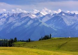 新疆伊犁喀拉峻大草原自然風景圖片_8張