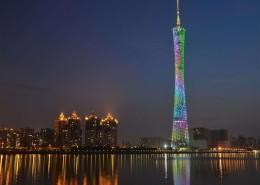 絢麗的廣州塔夜景圖片_9張