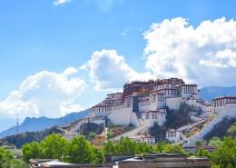 西藏拉萨布达拉宫建筑风景图片_9张