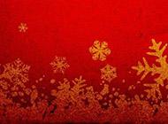 红色圣诞风格ppt背景图