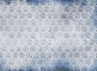 蓝色淡雅复古花纹背景图片
