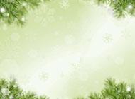 綠色葉子邊框圖片背景