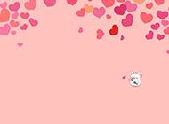 粉色爱心猪可爱背景图片