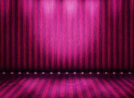小學精致紫色舞臺背景圖