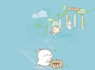 流氓兔word文檔卡通背景圖片
