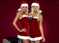 圣诞节美女诱惑经典桌面壁纸