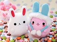 微信背景圖片高清粉色兔子素材