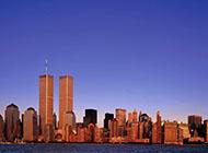 超清電腦壁紙紐約世貿雙塔城市風光賞析