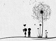 甜蜜浪漫的情侣背景图片素材
