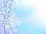 蓝色淡雅的ppt背景图片