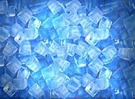 藍色冰塊簡約背景圖片大全