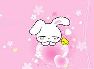 桌面壁纸 高清可爱粉色卡通兔子赏析