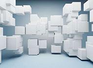 白色方格動感創意高清背景圖片