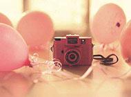 粉色梦幻相机精致图片素材