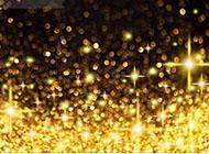 红金色星点光芒3d背景图片