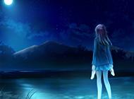 童话夜空简约动漫背景图片