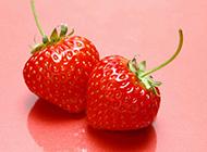 誘人鮮艷紅草莓新鮮水果精美圖集