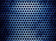 質感藍色鏤空金屬背景圖