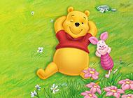 好看的維尼小熊卡通背景圖